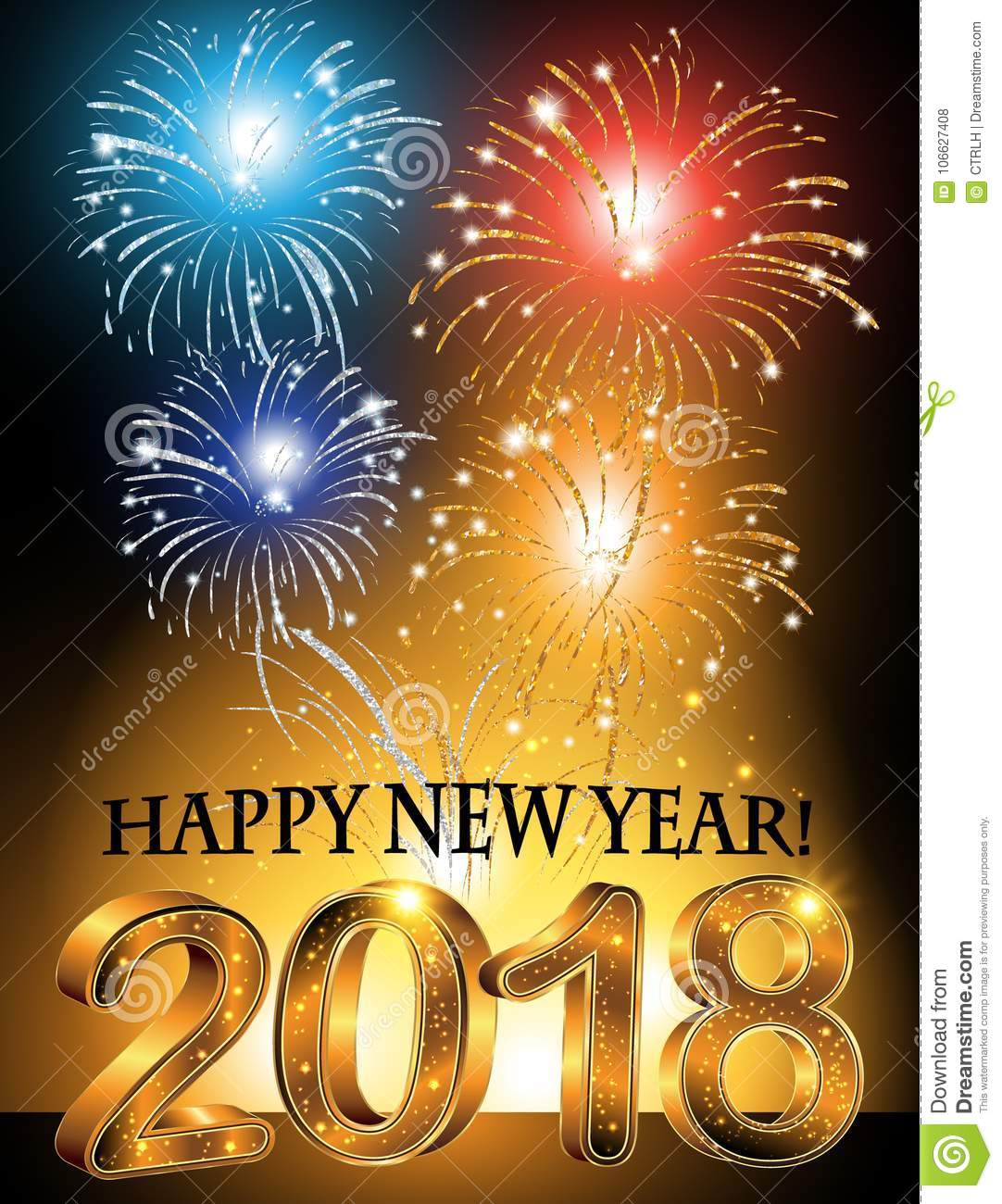 happy new year 2018 background corporate greeting card