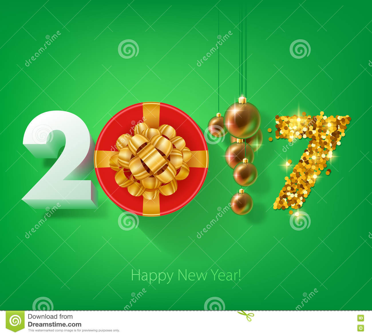 Happy new year 2017 background stock vector illustration of download happy new year 2017 background stock vector illustration of december celebration stopboris Gallery