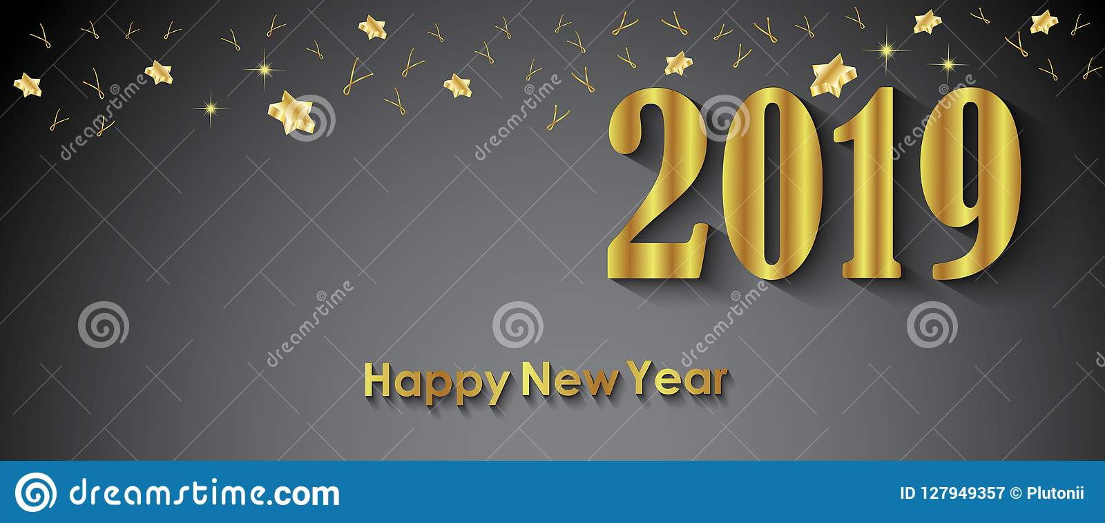 2019 happy new year background for your invitations festive posters greetings cards