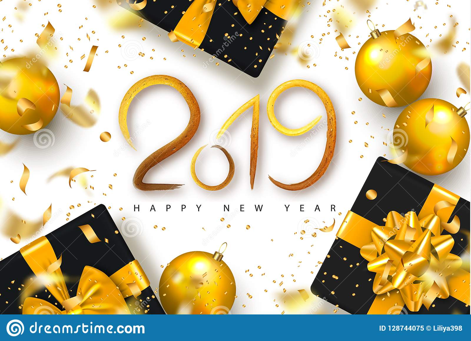 2019 happy new year background for holiday greeting card invitation party flyer poster