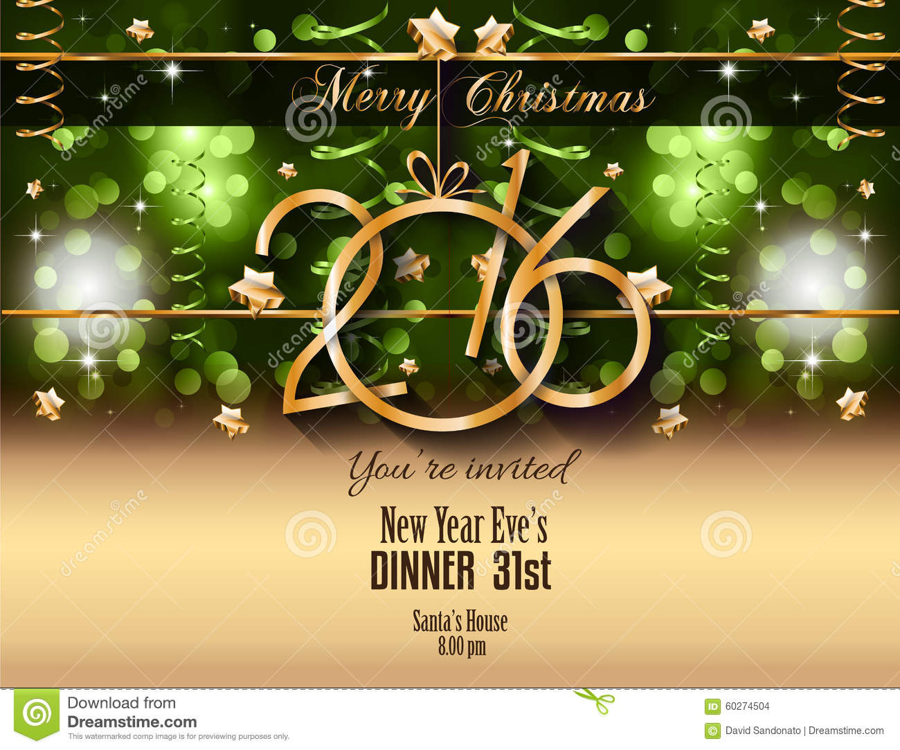 2016 happy new year background for your christmas flyers stock