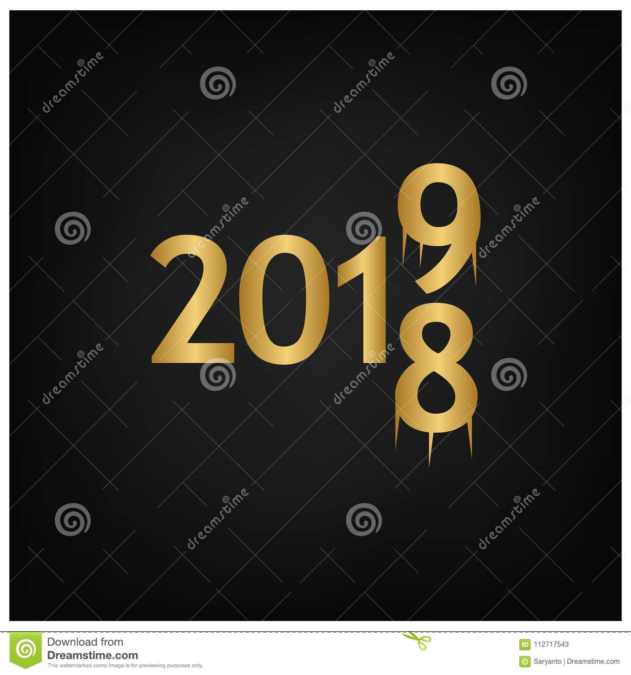 2019 happy new year background for your seasonal flyers banner sticker and greetings