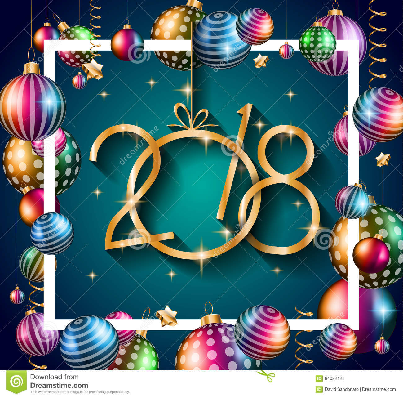 2018 happy new year background for your seasonal flyers
