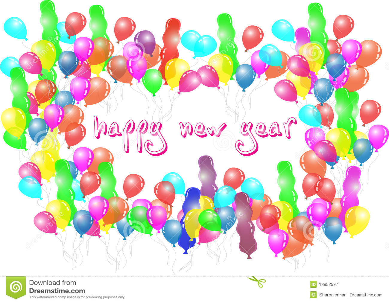 Happy New Year Balloon Party Royalty Free Stock Photography