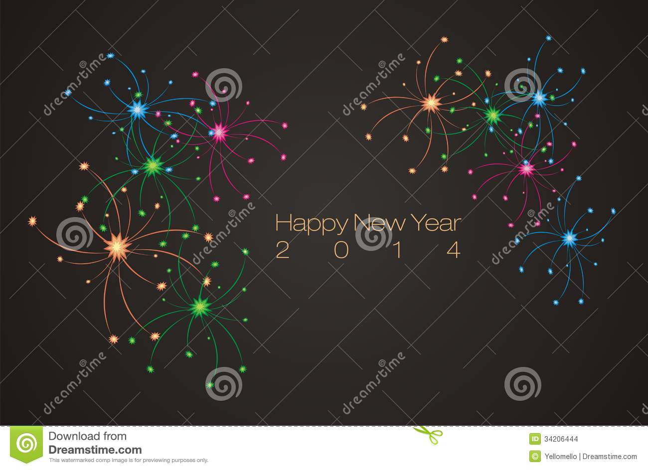 happy new year 2014 banner backdrop background poster