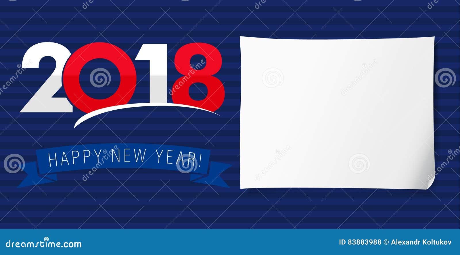 usa flag 2018 happy new year stock vector illustration of stripe
