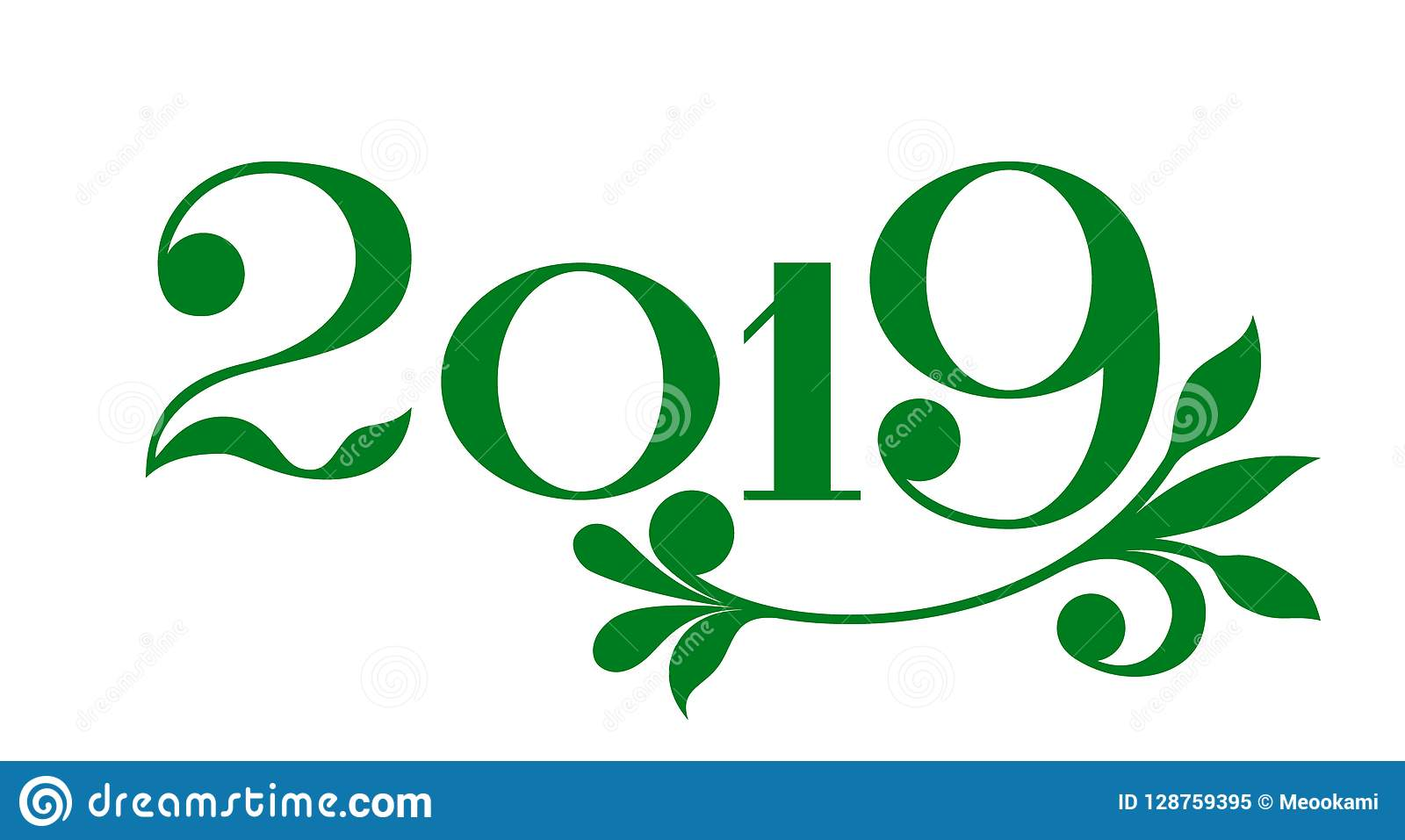 happy new year 2019 banner in eco style