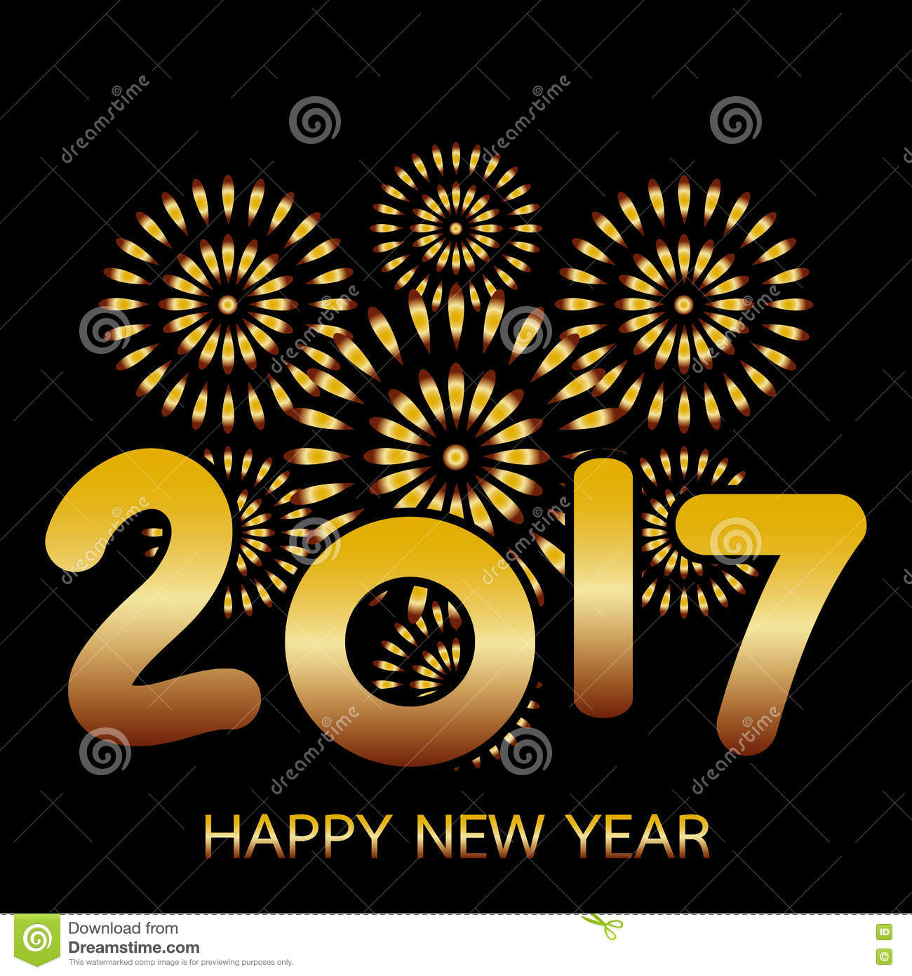 2017 Happy New Year Banner Stock Vector Illustration Of Year 82030906