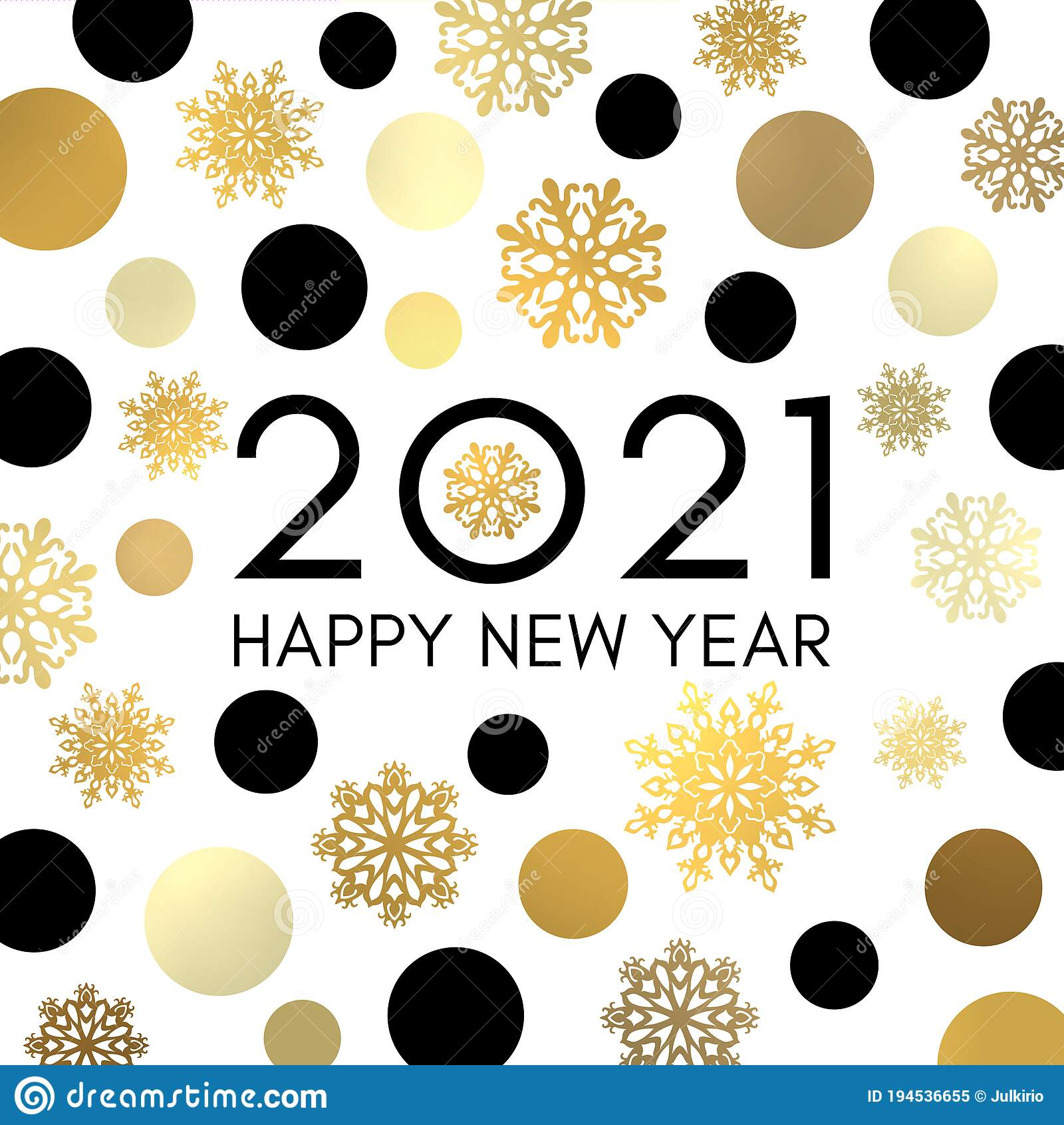 2021 Happy New Year Banner Or Greeting Card Design Stock Vector Illustration Of Decoration Greeting 194536655