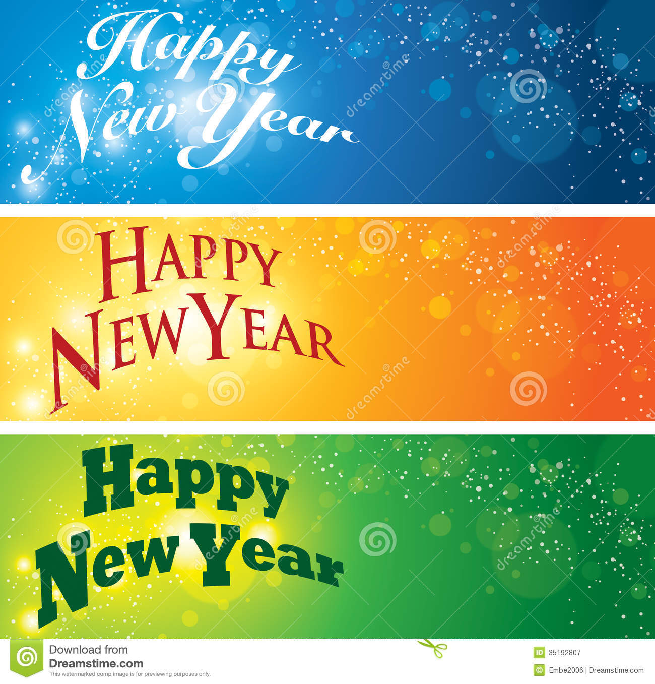 Happy New Year Banner stock vector. Illustration of year - 35192807
