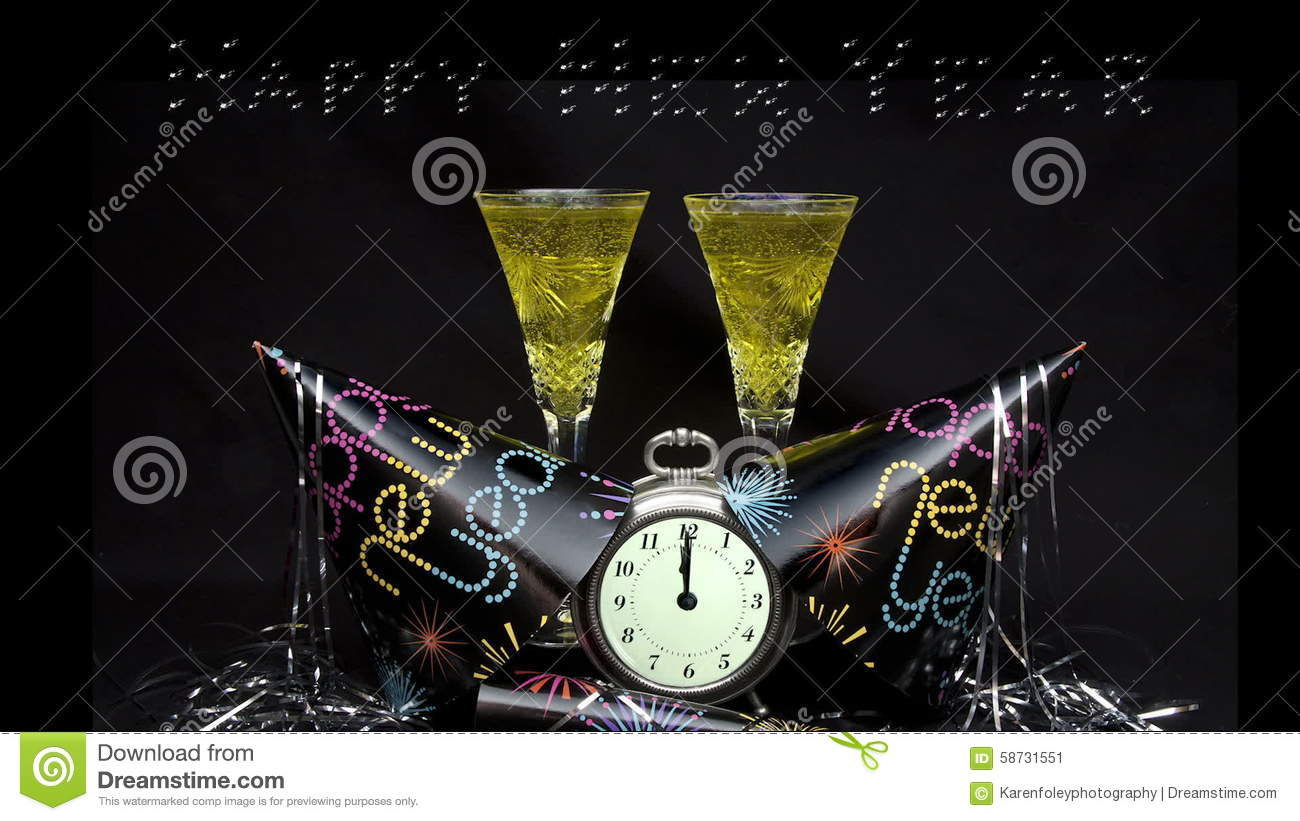 happy new year banner toast stock video video of champagne message 58731551