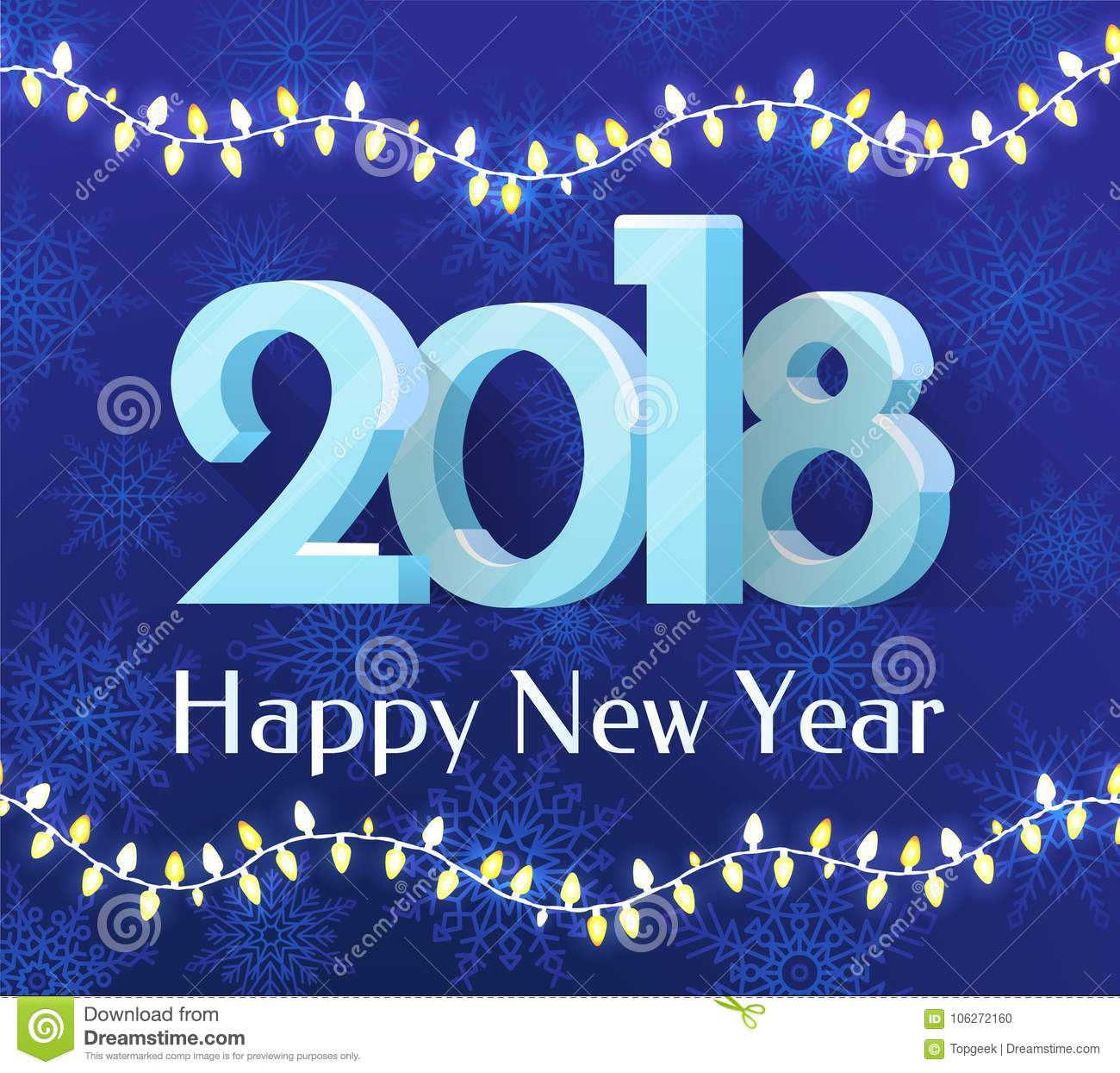 happy new year 2018 banner vector illustration