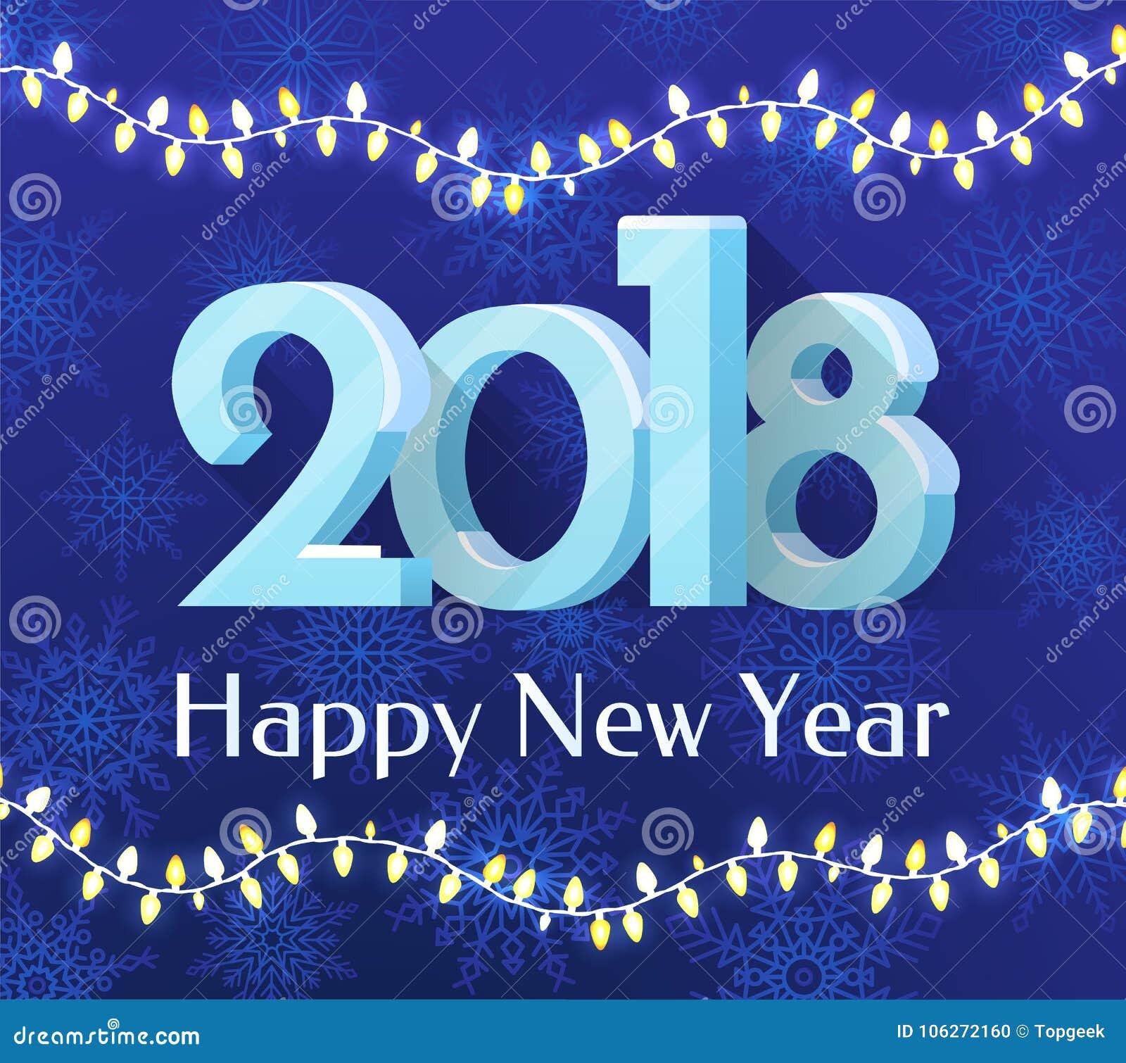 happy new year 2018 banner vector illustration