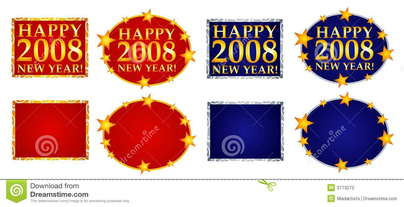 happy new year banners or logos 3