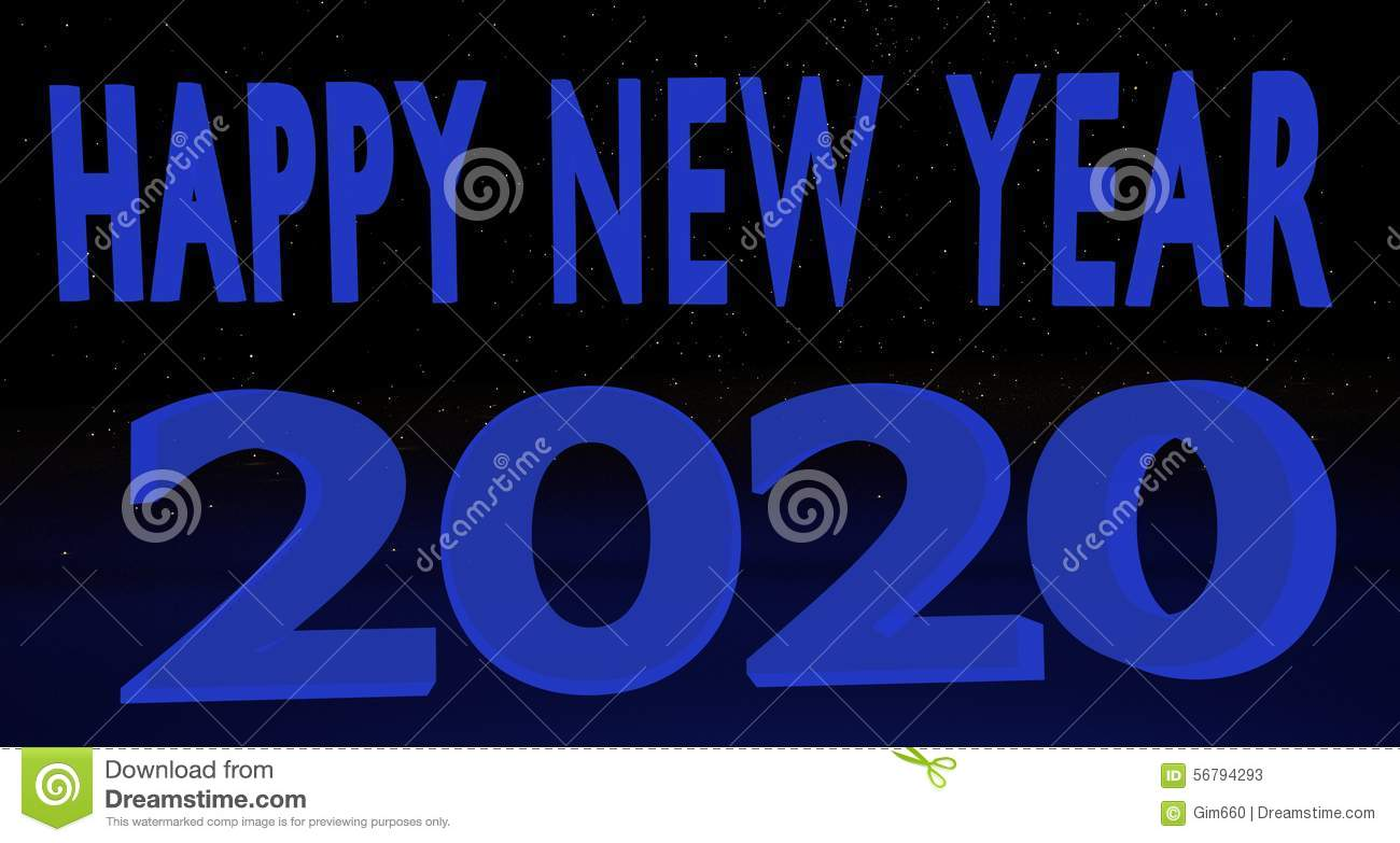 blue hue 2020 happy new year background banner