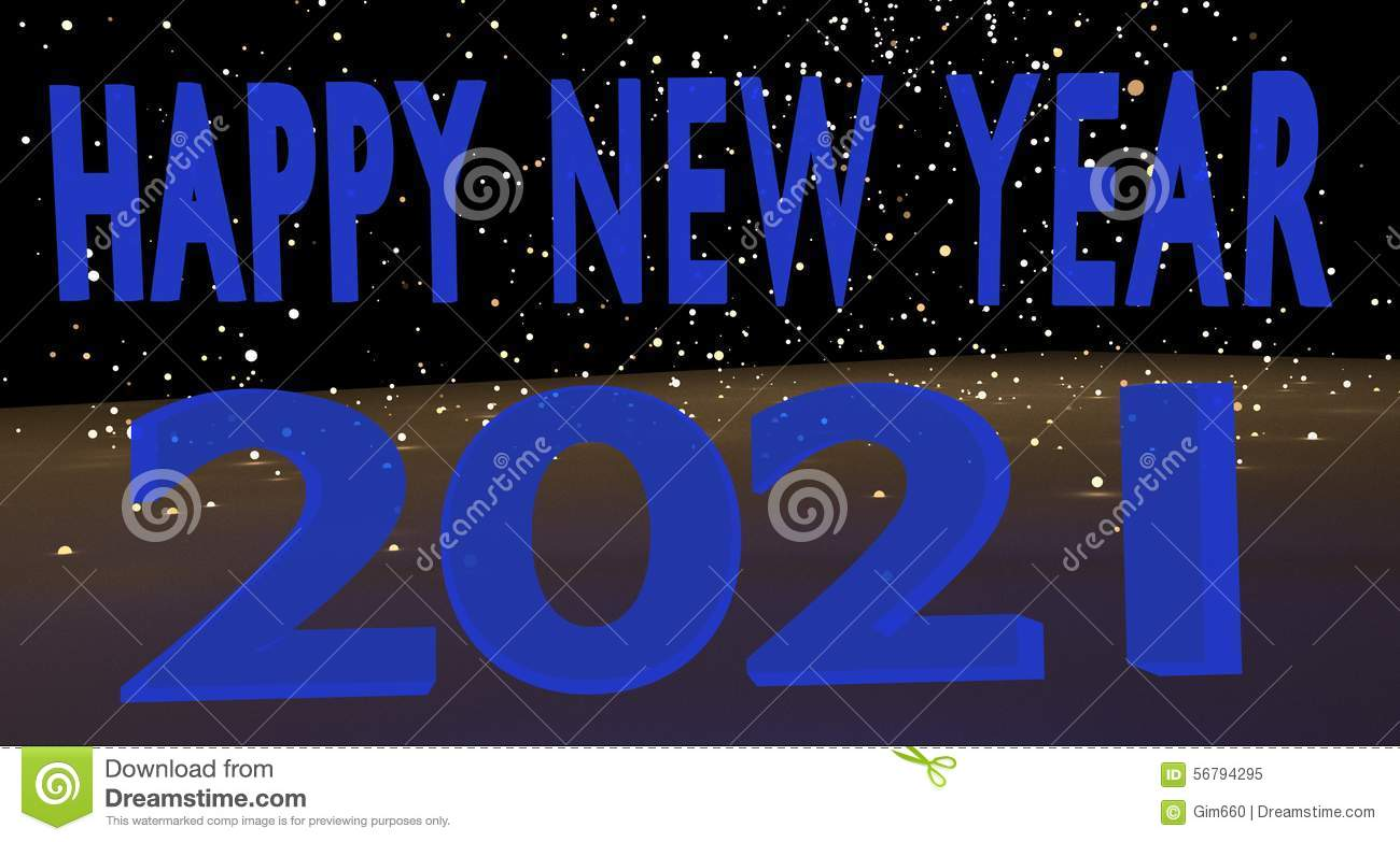 happy new year 2021 stock photo