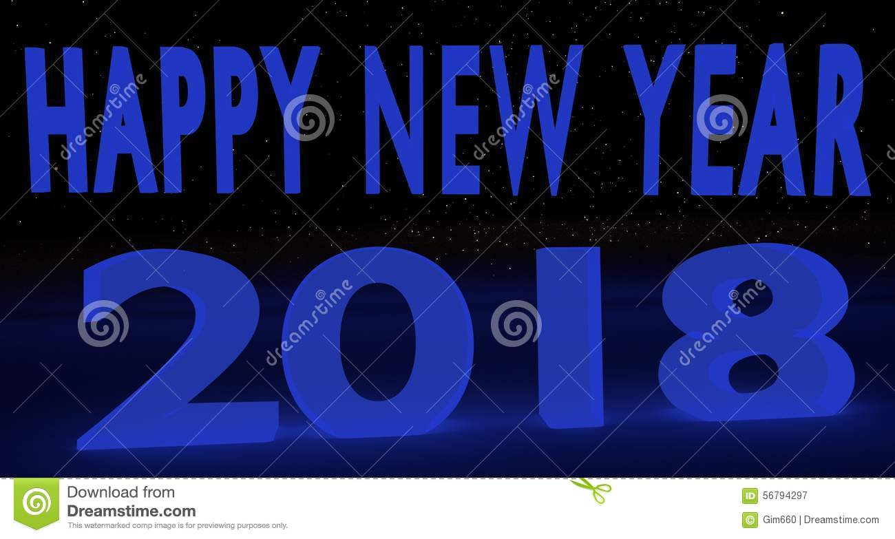 blue hue 2018 happy new year background banner