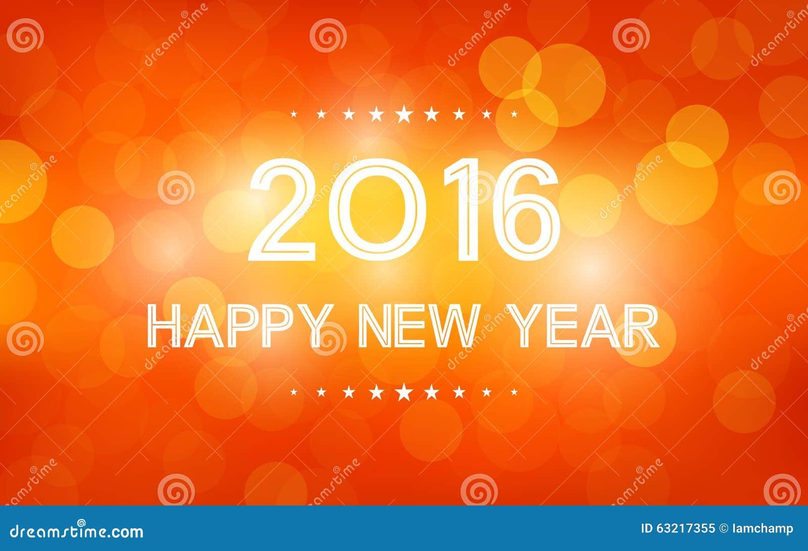 Happy New Year Orange 21