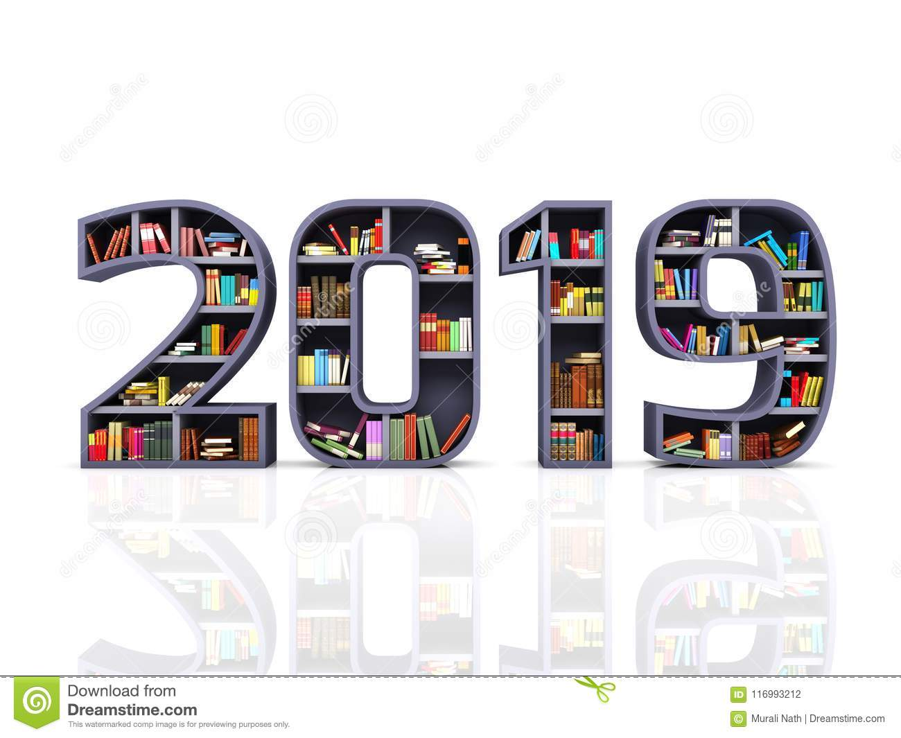 Happy New Year 2019 with Books