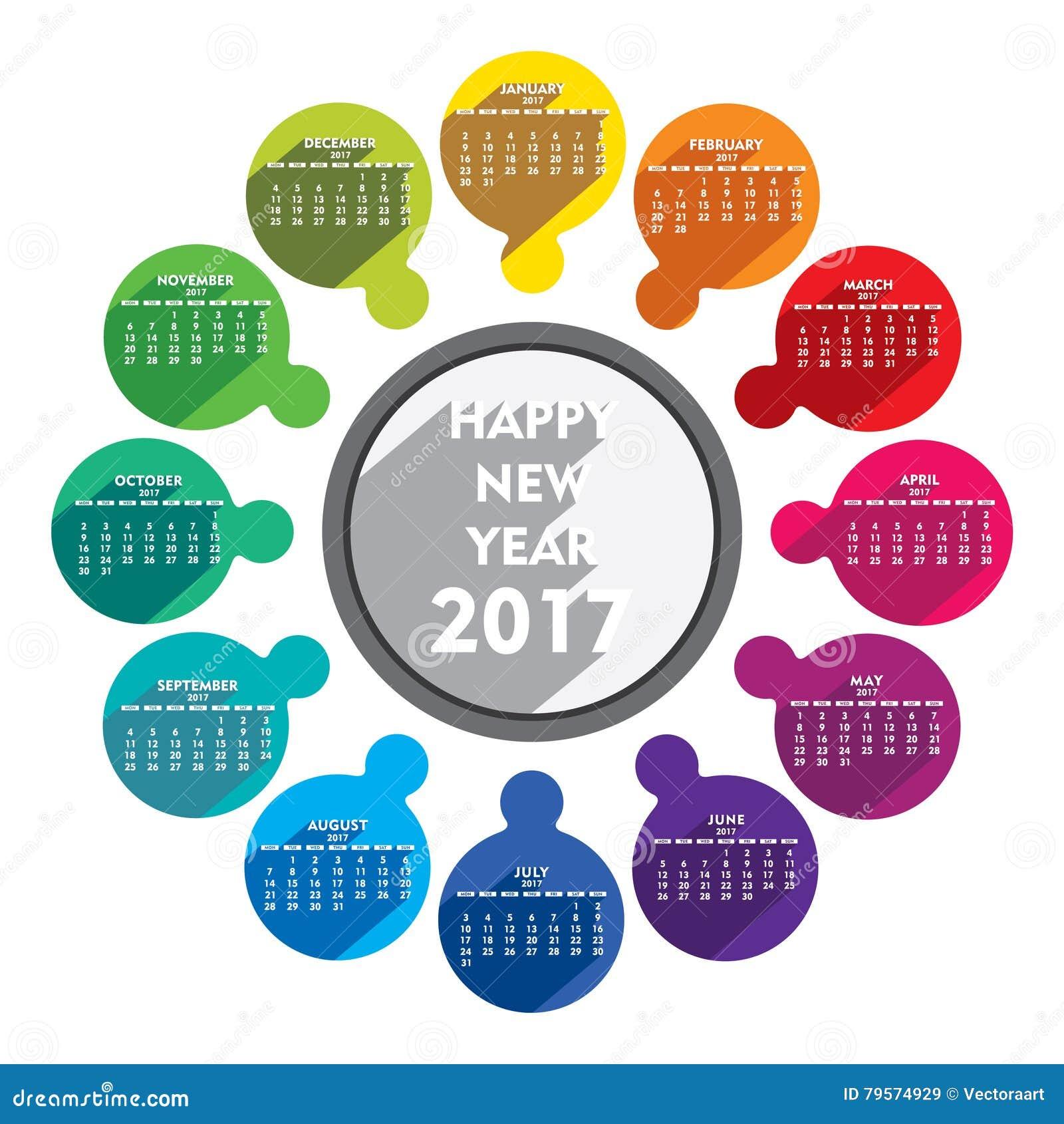 New Year Calendar Designs : Happy new year calendar design stock vector image