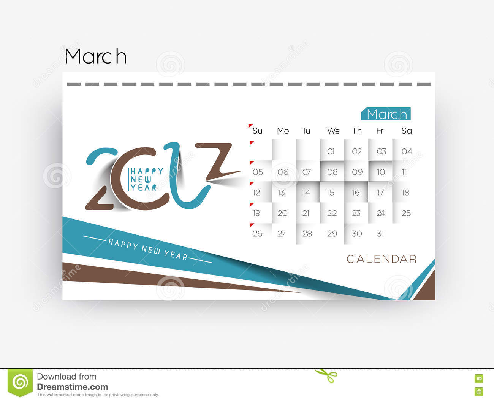 Holiday Calendar Design : Happy new year calendar design elements stock vector