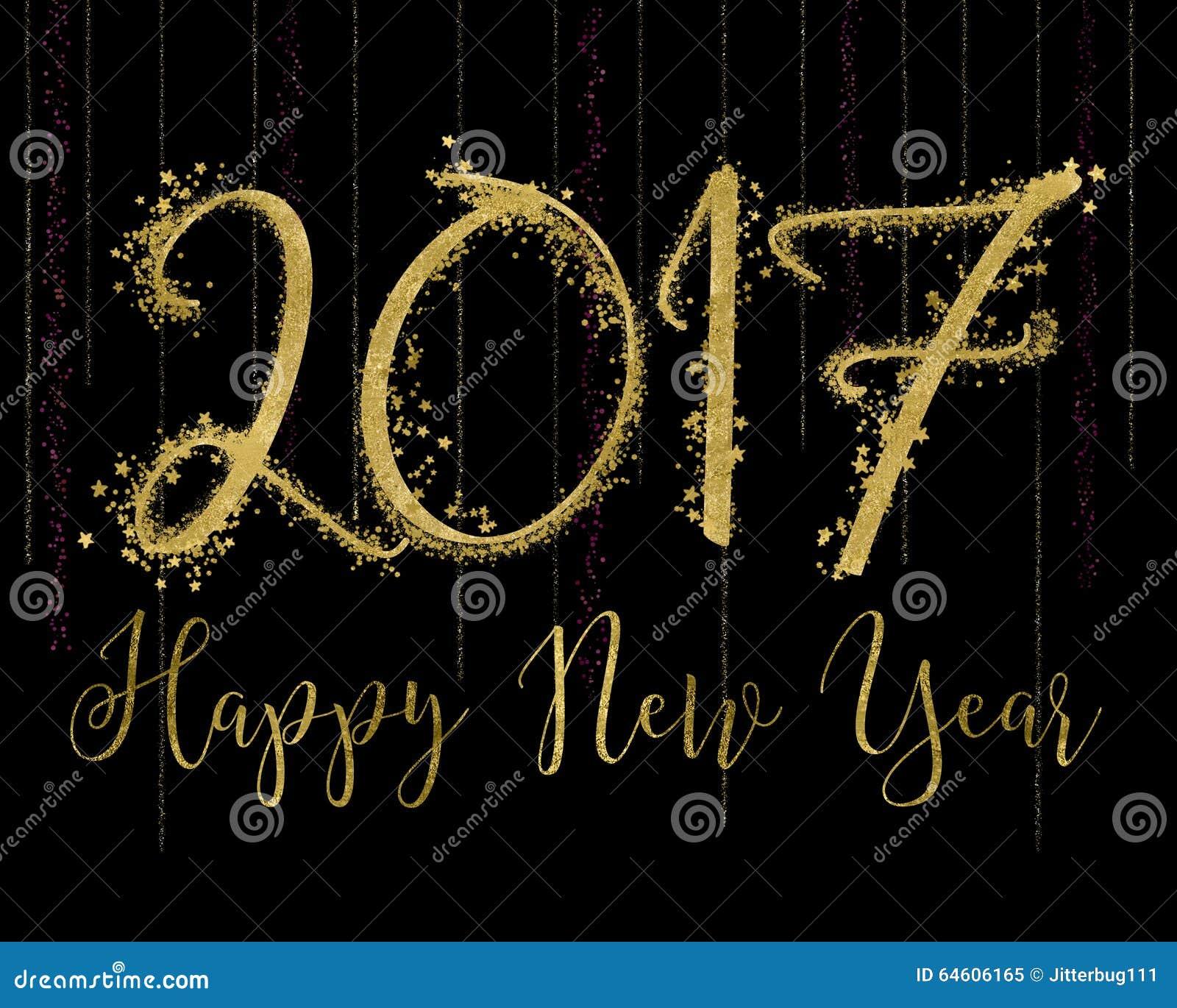 2017 Happy New Year Stock Illustration - Image: 64606165