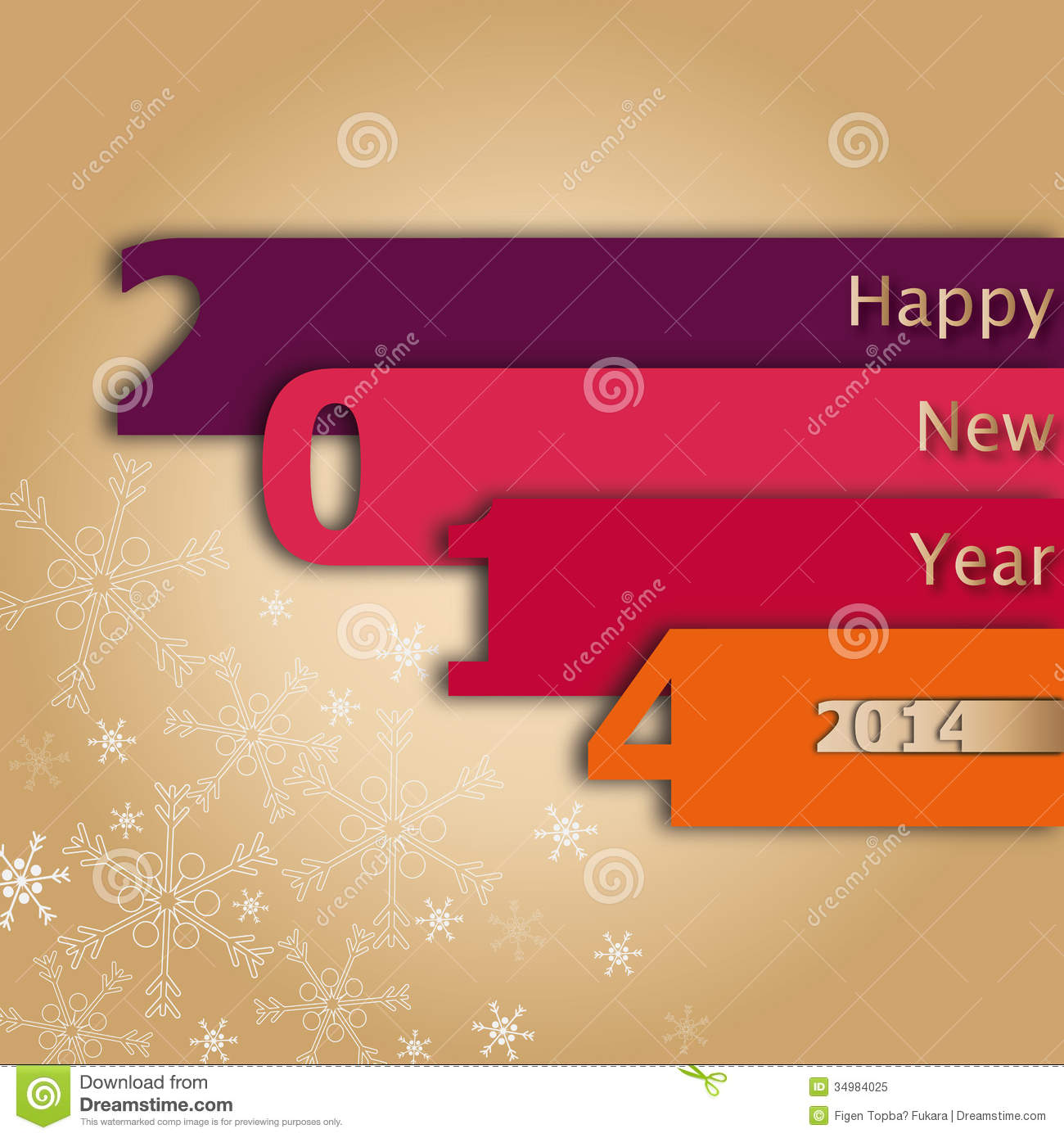 2014 Happy New Year Card stock illustration. Illustration of frame ...