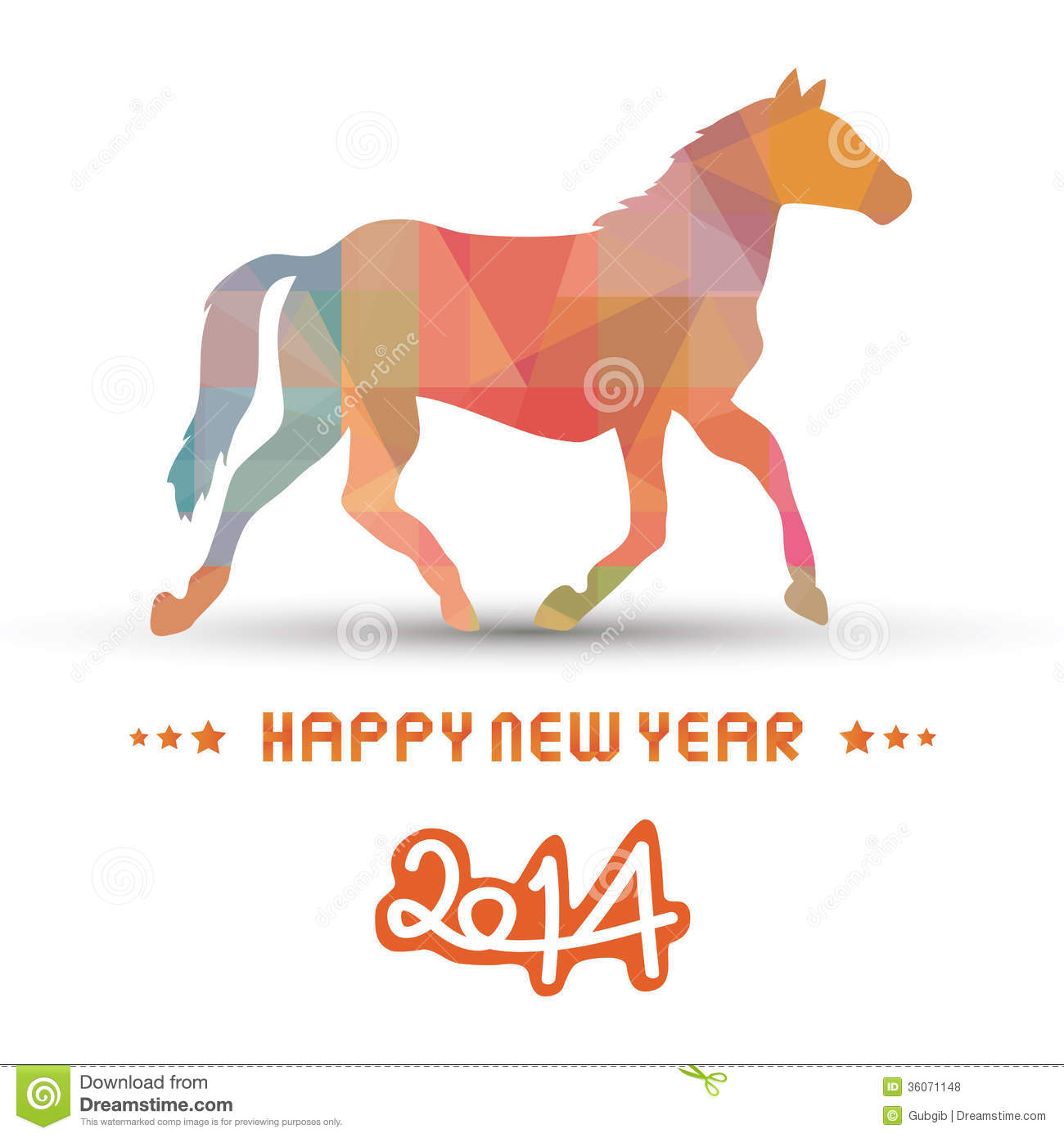 Happy new year 2014 card20 stock vector. Image of season ...
