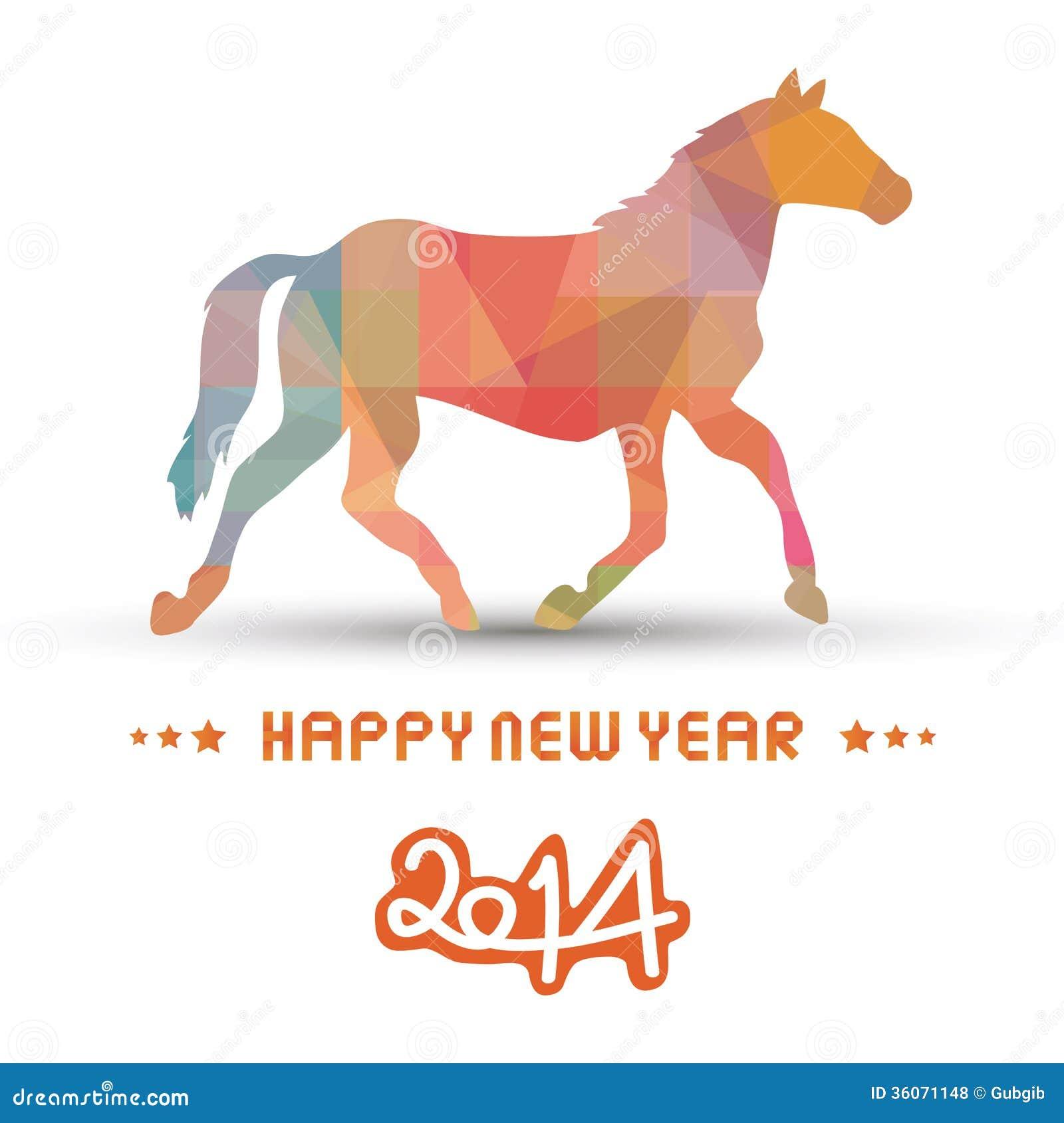 Happy new year 2014 card20 stock vector. Image of season ...