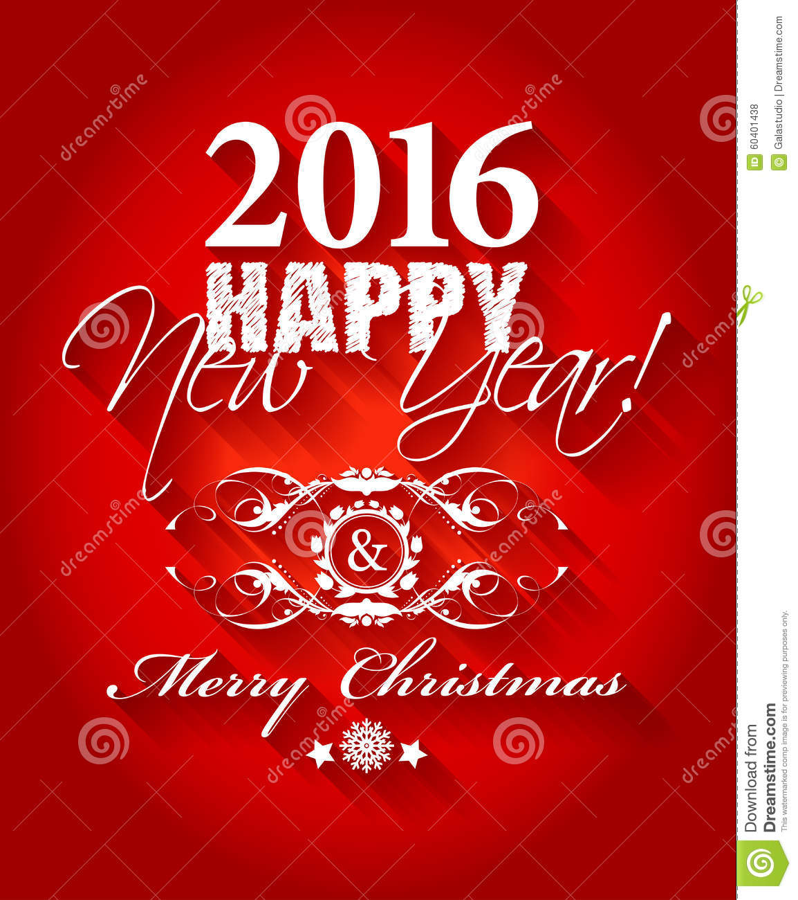 2016 Happy New Year And Card Merry Christmas Card Or Background