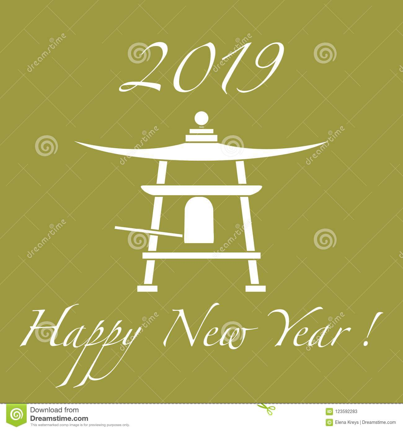 happy new year 2019 card new year symbol in japan