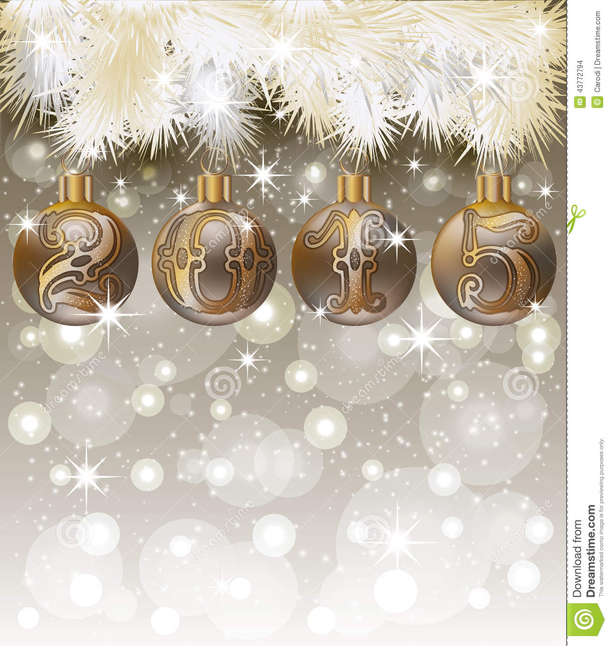 Happy New 2015 Year Card Vector Illustration. Www 2015year Com. View ...