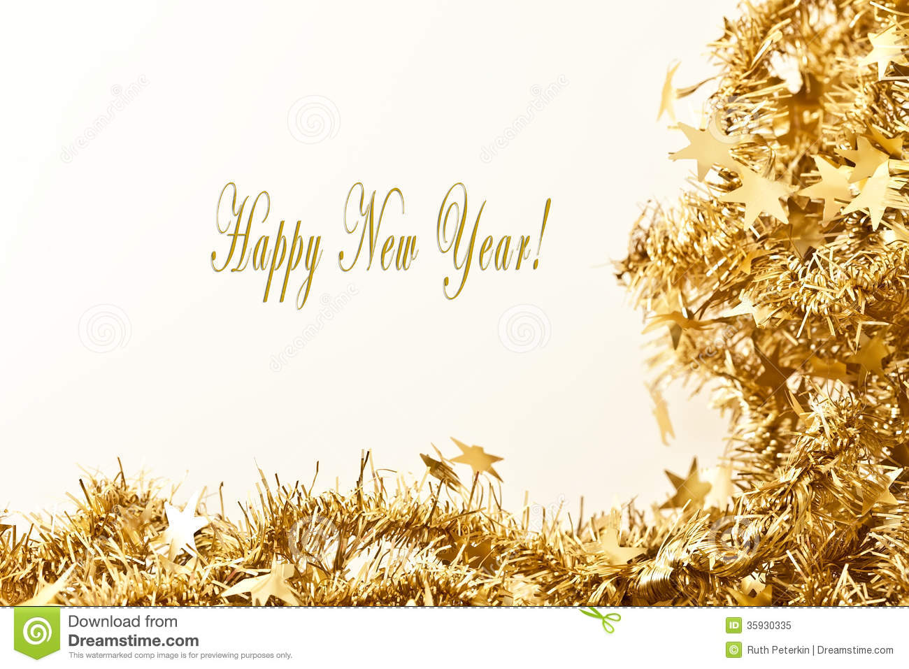 Happy New Year Card stock image. Image of year, happy - 35930335
