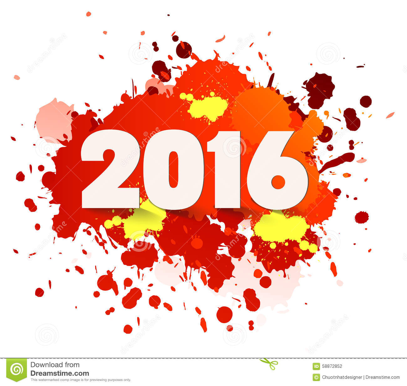 Happy new year celebration 2016 with colorful spray paint for Happy color spray paint price