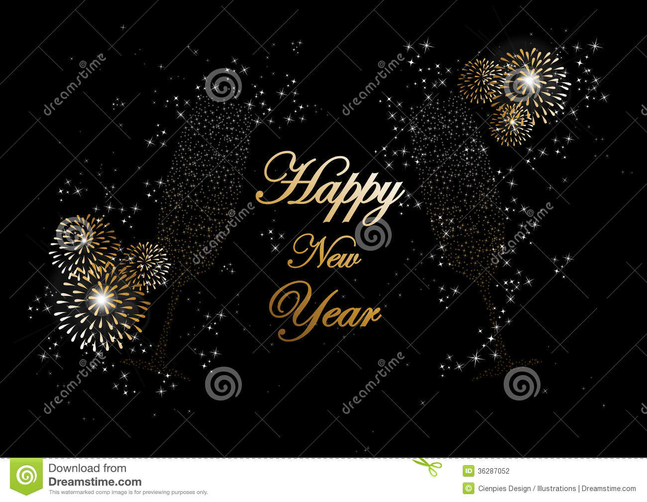 Happy new year 2014 champagne fireworks greeting card stock vector download happy new year 2014 champagne fireworks greeting card stock vector illustration of congratulation m4hsunfo