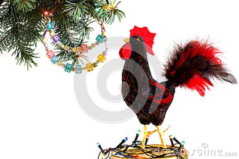 Happy New Year 2017 On The Chinese Calendar Of Rooster Template Card ...