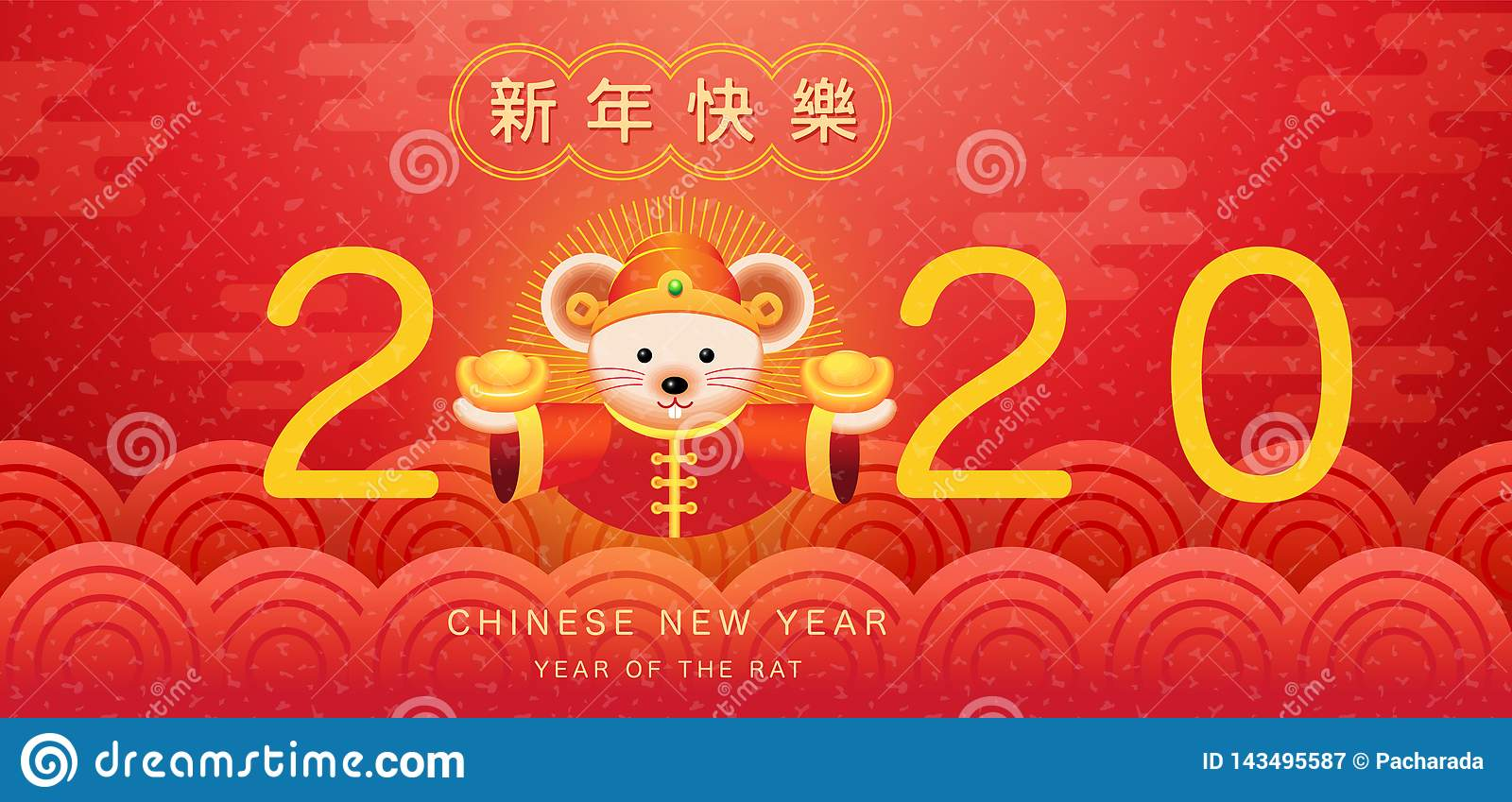 Happy New Year, 2020, Chinese New Year Greetings, Year Of ...