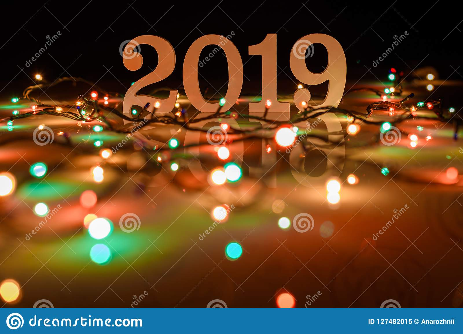 2019 Christmas Background Happy New Year 2019, Christmas And New Year Background Stock Image