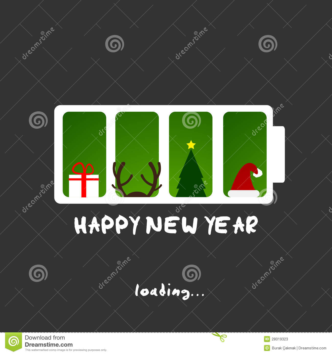 happy new year christmas funny card design