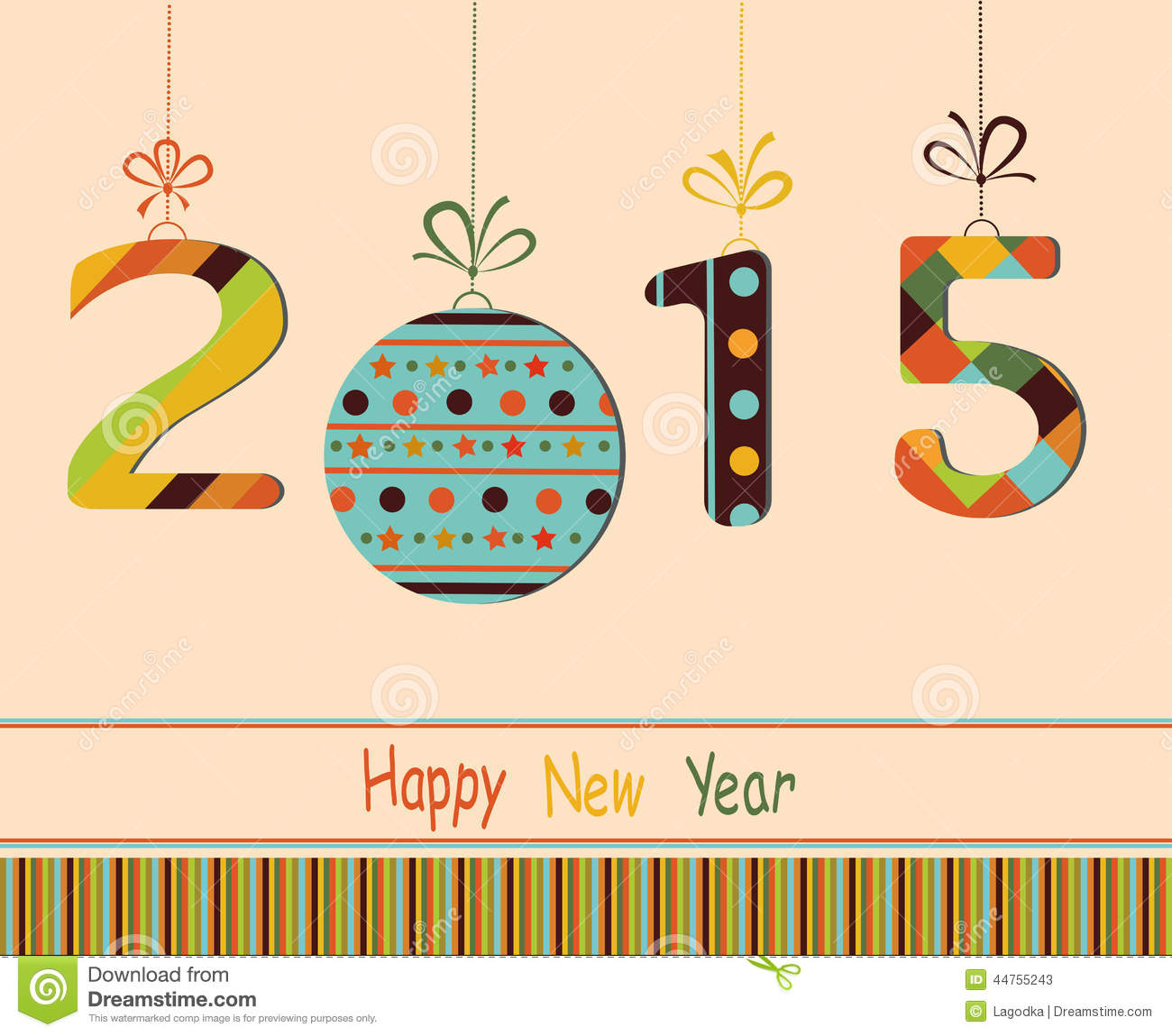 Happy new year 2015 stock vector illustration of love 44755243 happy new year 2015 m4hsunfo