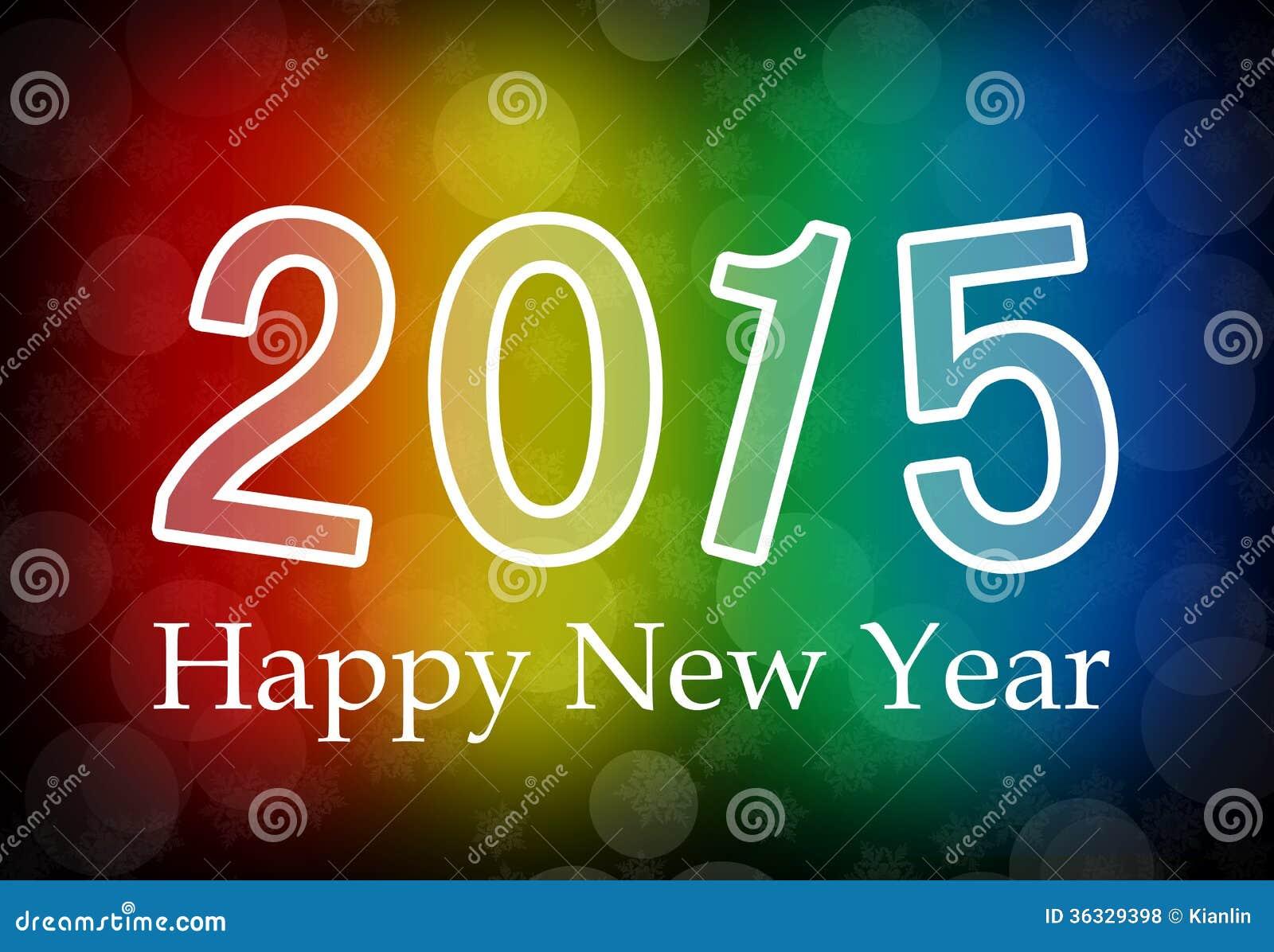 Royalty Free Stock Photos: 2015 Happy New Year