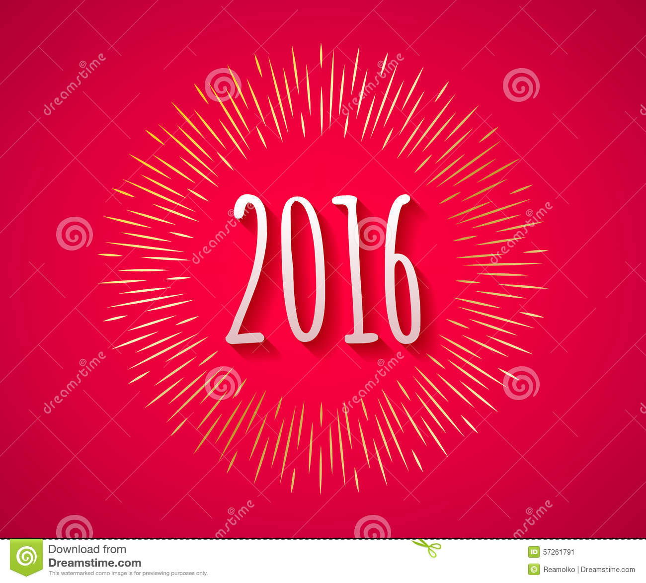 Calendar Typography Year : Happy new year colorful symbol stock vector image