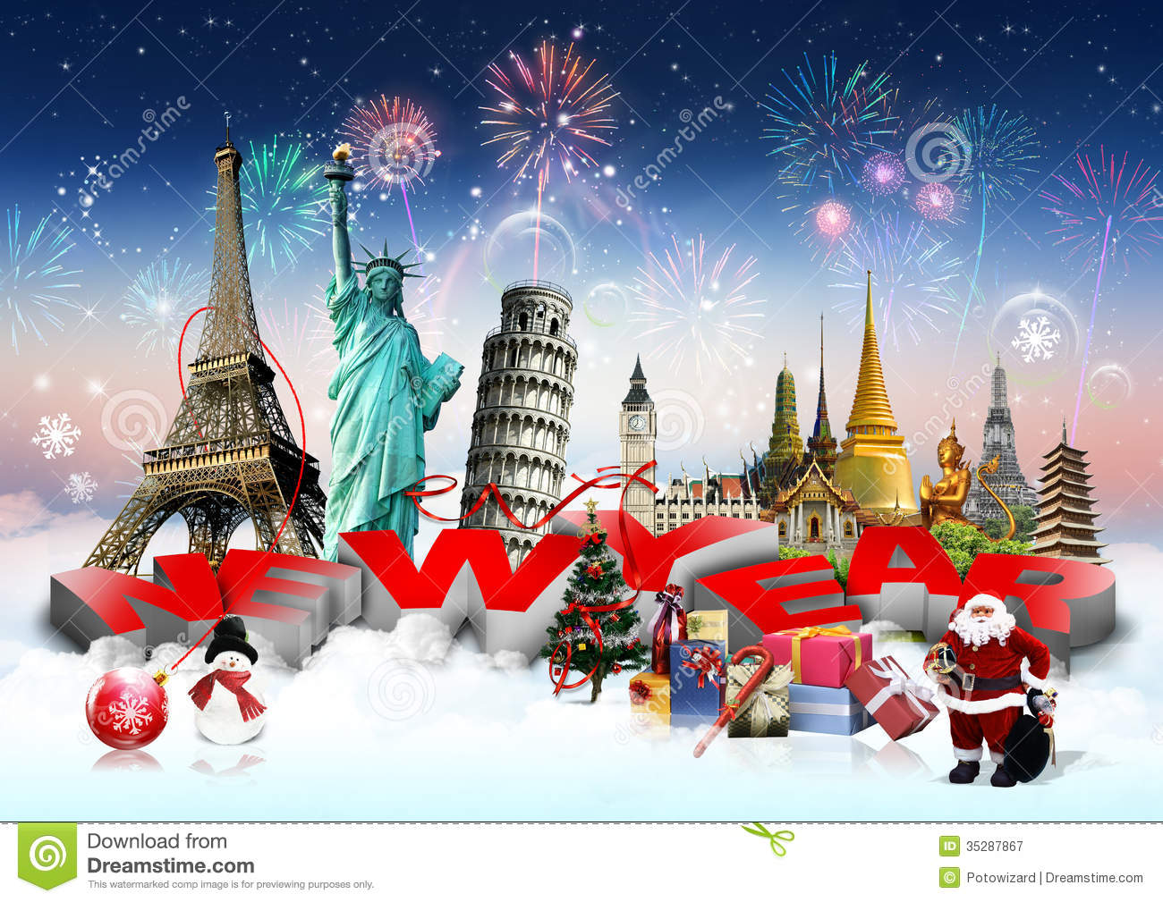 Happy new year concept stock image image of europe continent 35287867 - Happy new year sound europe ...