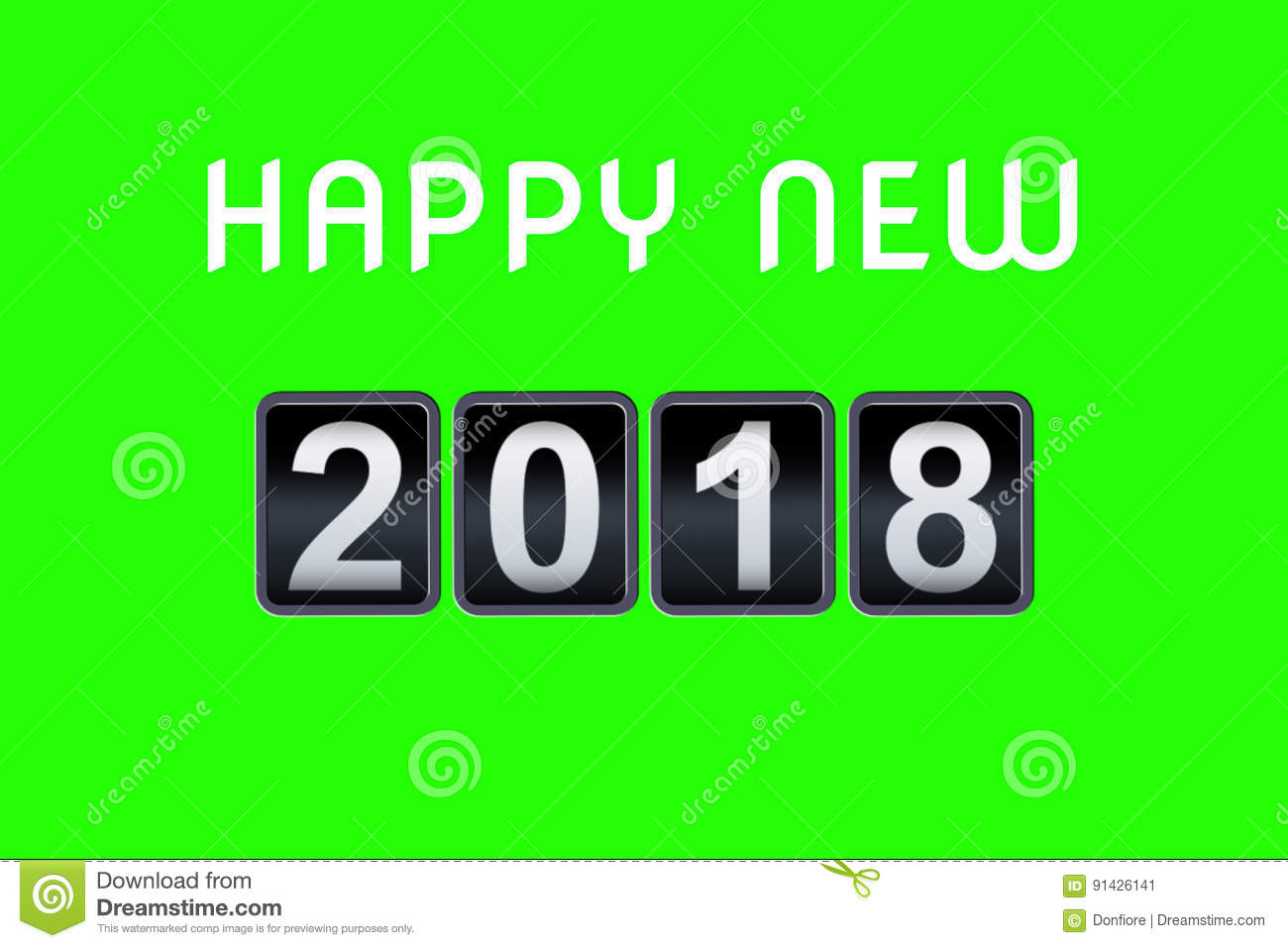 2017 2018 happy new year concept vintage analog counter countdown timer, retro flip number counter from 2017 to 2018 year