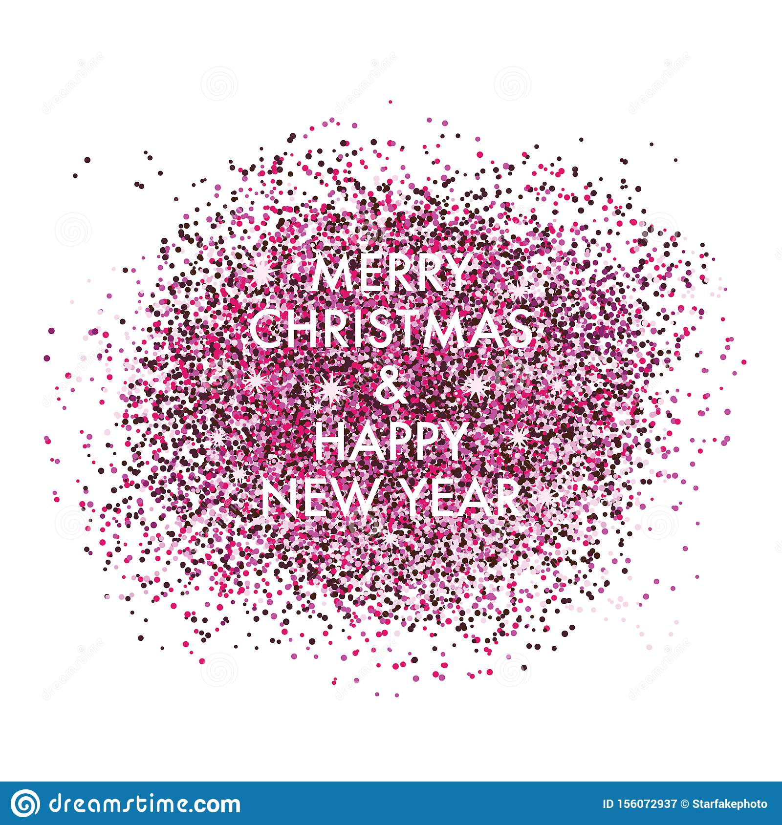 Happy new year with shiny confetti background template