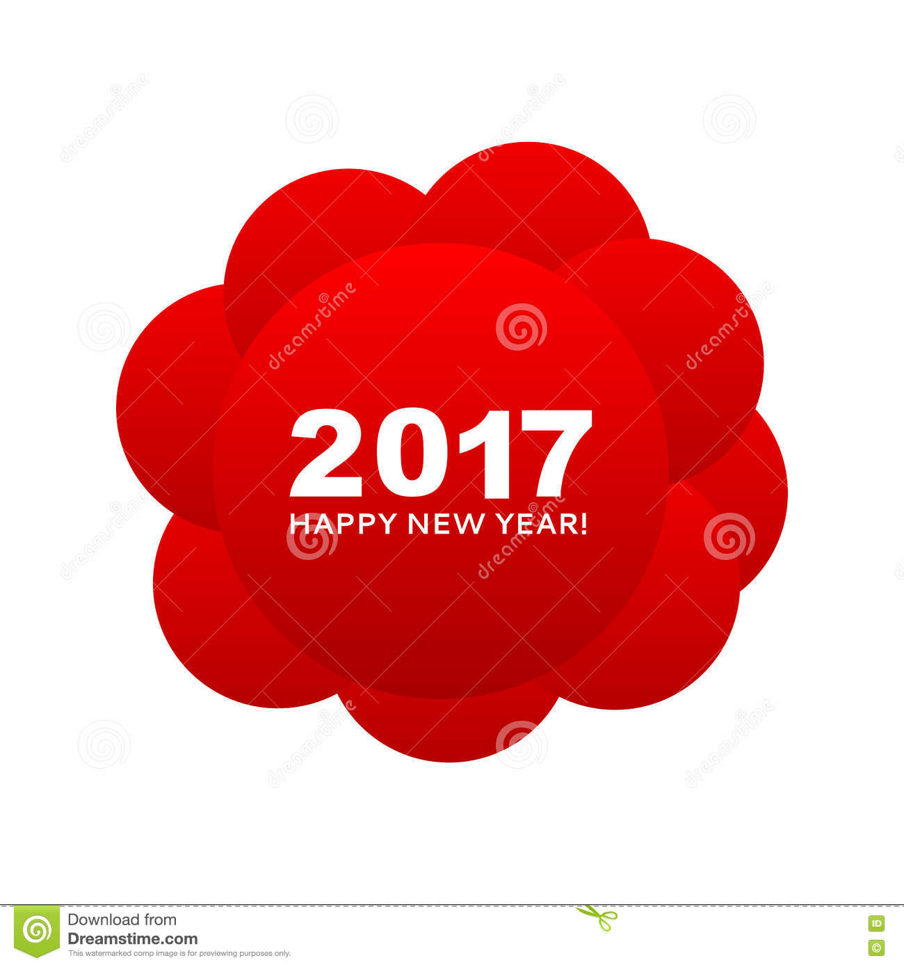 happy new year 2017 congratulation on the red circles make up a