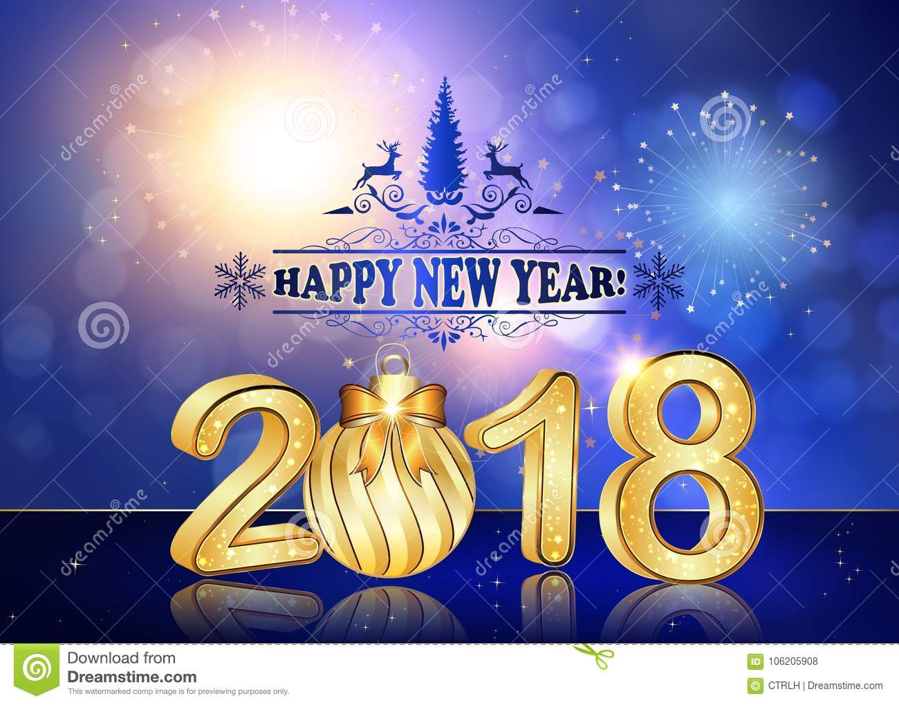happy new year 2018 corporate style background greeting card download preview