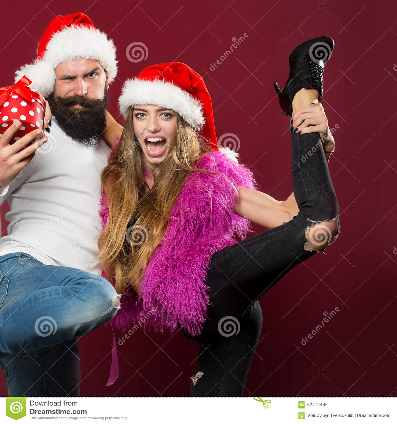 Happy New Year Couple Stock Photo. Image Of Pair, Handsome