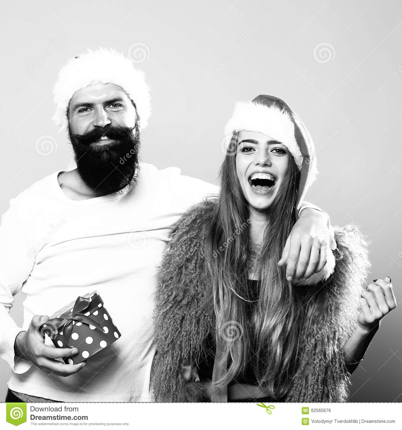 Happy New Year Couple Stock Photo. Image Of Attractive