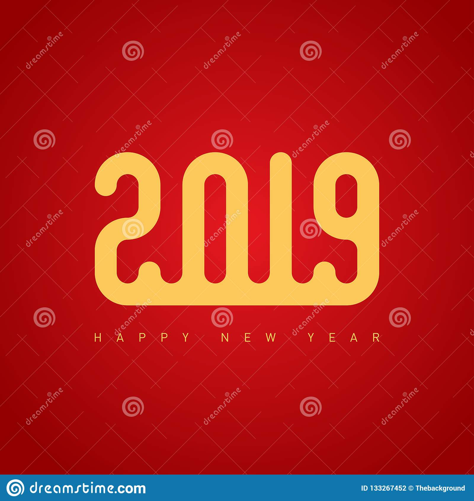 happy new year 2019 the cover of the calendar or business diary